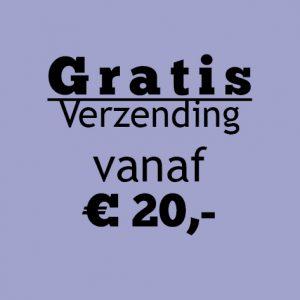 Gratis verzending boven de € 20,-