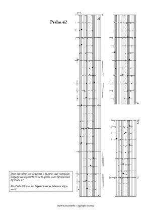 Zichtpagina Psalm 42 - Arie van der Vlist | Orgelboek met Voorspelen bij de 150 Psalmen en Enige Gezangen - klavar