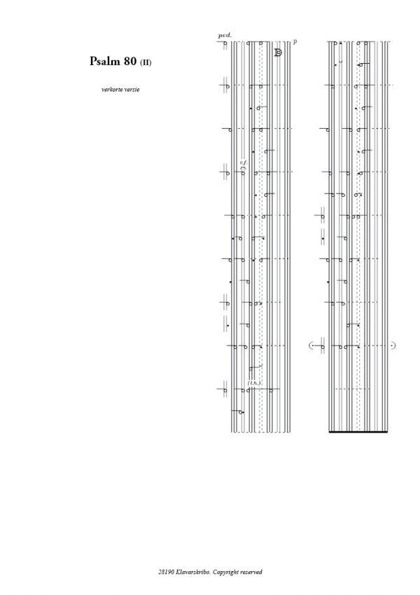 Zichtpagina Psalm 80 - Arie van der Vlist | Orgelboek met Voorspelen bij de 150 Psalmen en Enige Gezangen - klavar