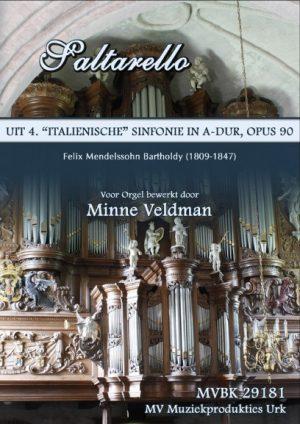 Minne Veldman Saltarello (Mendelssohn) - noten