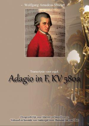 W.A. Mozart   Adagio in F KV580a (transcriptie voor orgel) - noten