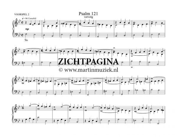 Zichtpagina - Psalm 121 - Boudewijn Zwart | Koraalboek voor de 150 Psalmen - noten