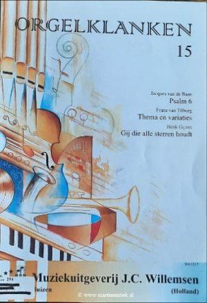 Van de Baan, van Tilburg en Gijzen - Orgelklanken (deel 15) - noten