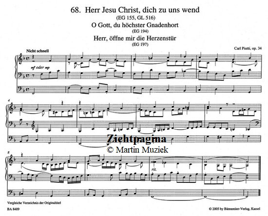 Zichtpagina - Carl Piutti | Choralvorspiele 2 (Op.34 68/126) - noten