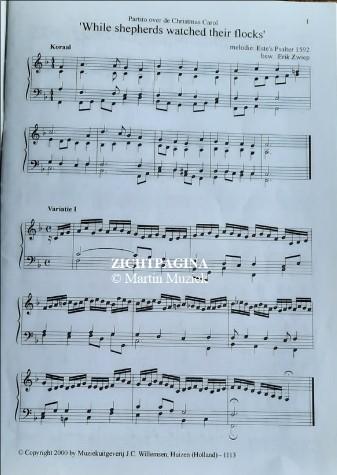 Zichtpagina - Claude Daquin, Wildeman en Zwiep | Orgelklanken (deel 13) - noten