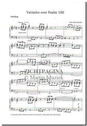 Zichtpagina - Jaap Niewenhuijse | Variaties over Psalm 100 - noten